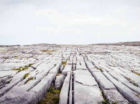Aran Islands, Ireland - limestone landscape