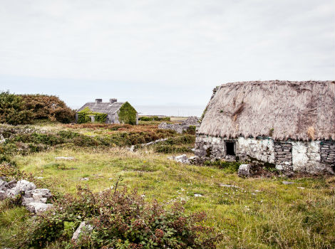 Irish Thatched Cottage By Wild Atlantic Way, Ireland