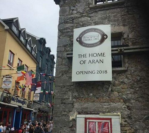 Galway's Oldest Building - Quay Street, Aran Sweater Market