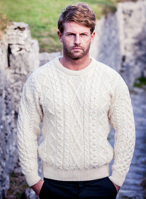 Merino Wool Diamond Sweater Mens