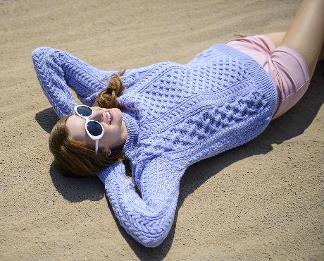 Natural Merino Aran Sweater