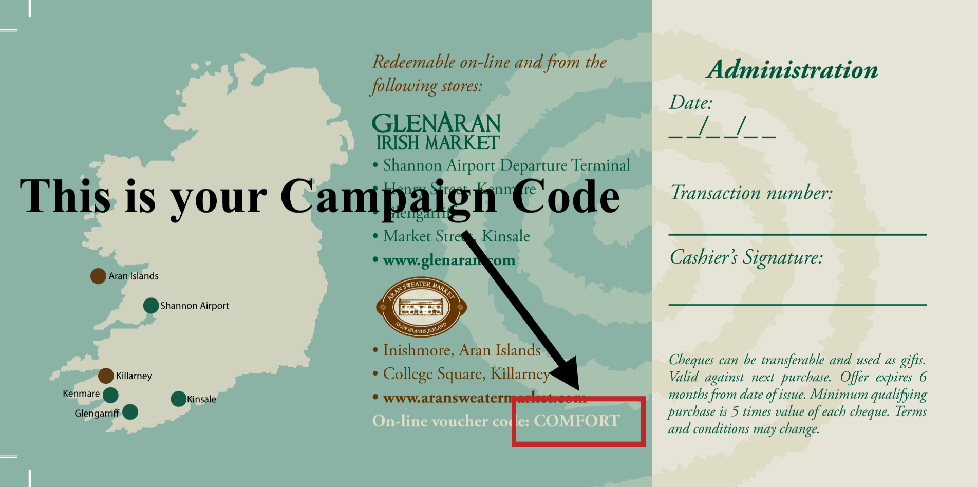 Your Campaign Code is printed on the back of your voucher