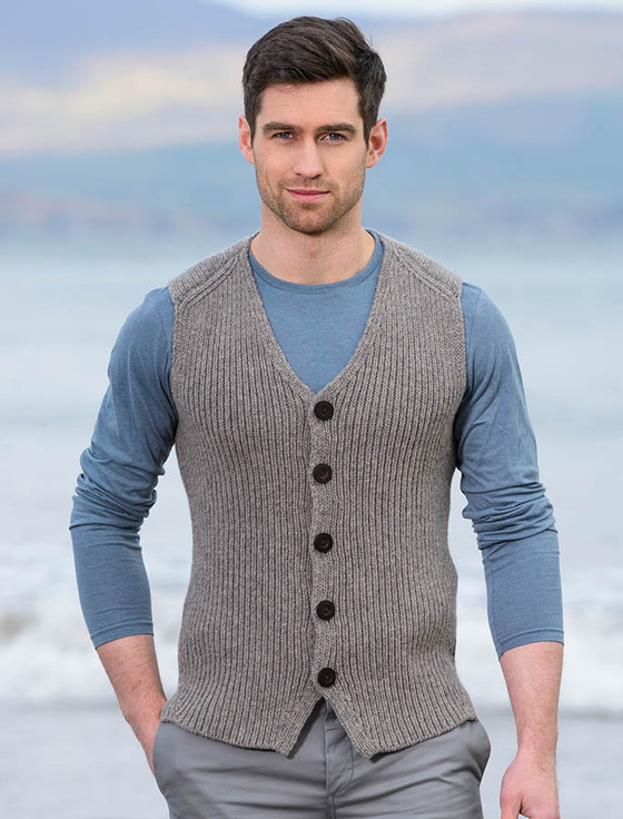Shop for men's vests including dress vests, casual vests & vest jackets. See the latest styles & brands of vests for men from Men's Wearhouse. × Restrictions apply. Woven in a fine Merino wool blend this sweater vest is subtly stylish. It has a black and gray herringbone pattern brown ribbed edges and a .