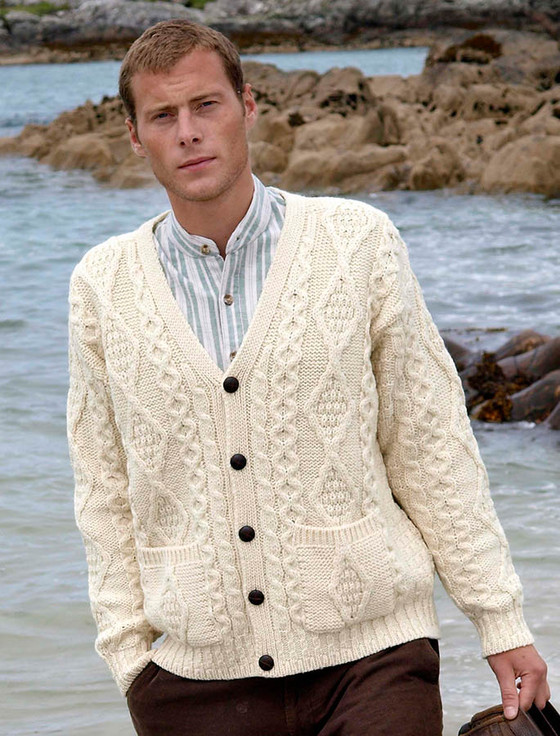 The Grandfather Cardigan - White