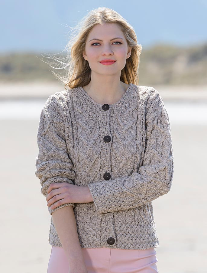 Knitting Pattern For Ladies Cable Cardigan : Aran Cable Knits Cardigan, Cable Knit Cardigans, For Women