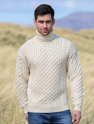Mens wool sweaters, Irish fisherman sweater, Irish sweaters