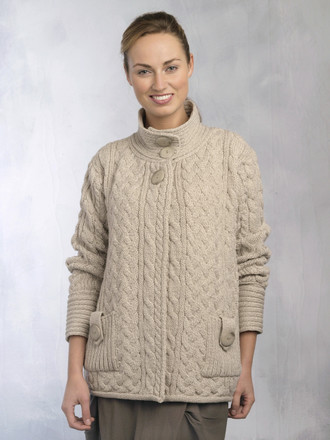 Cable Design Button Jacket - x4087