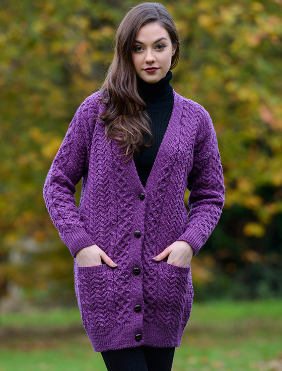 Irish cardigans, Cable knit Coats | Aran Sweater Market