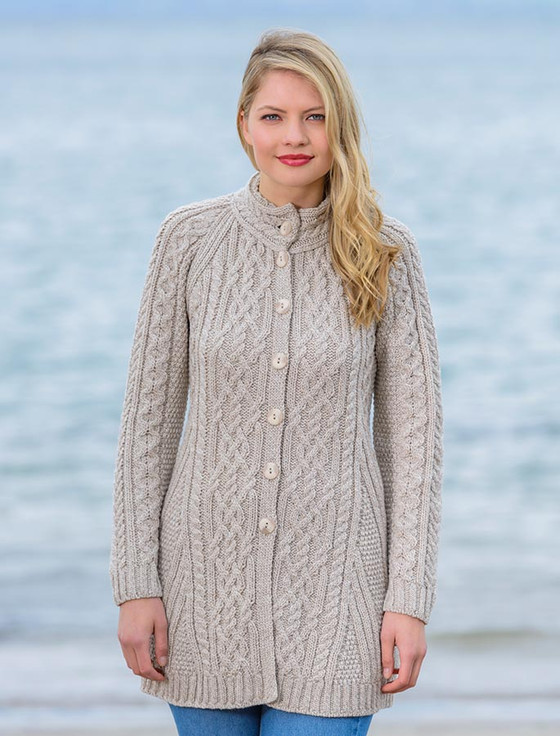 long coatigan, Long wool coat for women | Aran Sweater Market