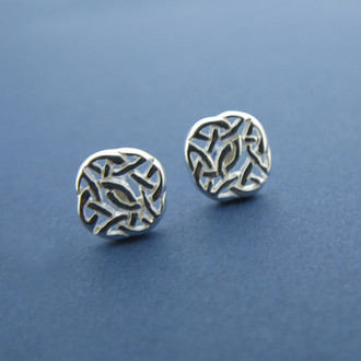 Intricate Knotwork Stud Earrings