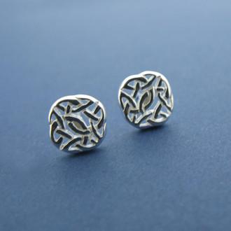 Intricate Knotwork Stud Earrings