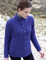 Merino Wool Buttoned-Up Cardigan - Violet
