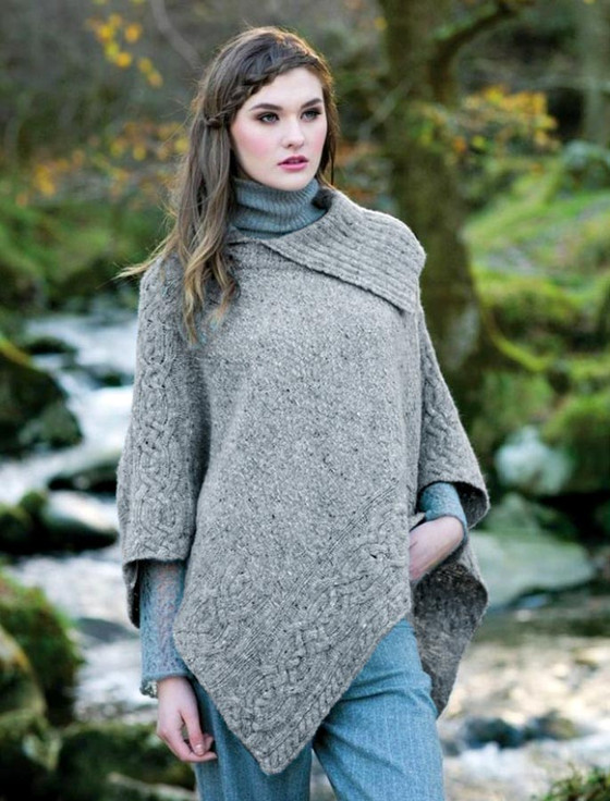 Fresh Cable knit poncho, cable poncho, women | Aran Sweater Market RZ48
