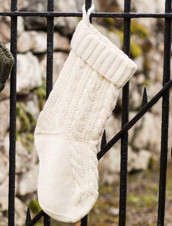 Aran-Knit Christmas Stockings