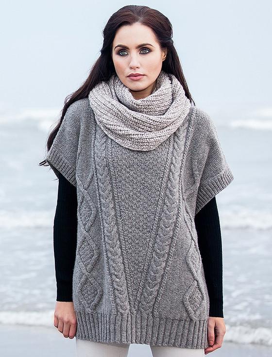 Oversized Aran Cable Knit Wool Sweater | Aran Sweater Market