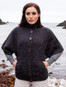 Women's Batwing Cable Cardigan - Raven