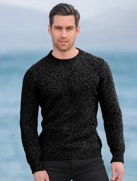 Plain Crew Neck Sweater - Charcoal