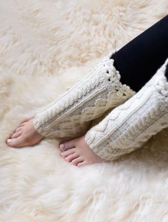 Aran Wool Legwarmers