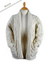 Open Drape Shawl Cardigan - Natural White