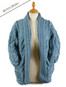 Open Drape Shawl Cardigan - Misty Marl
