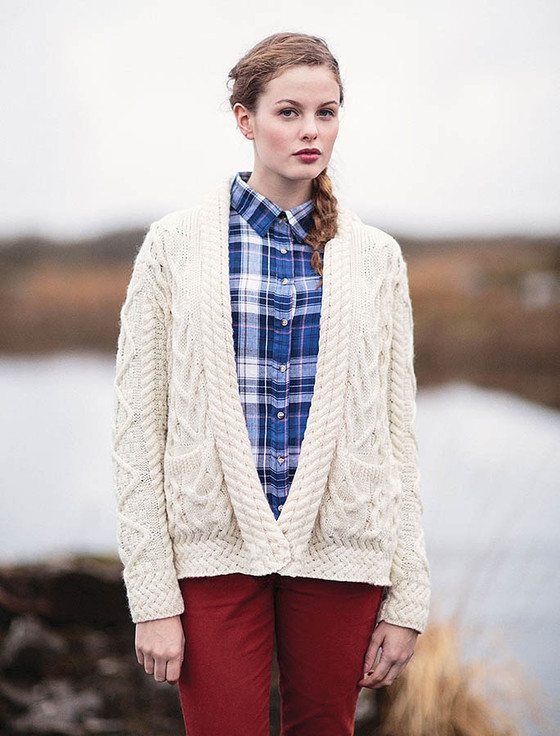 Open Drape Shawl Cardigan