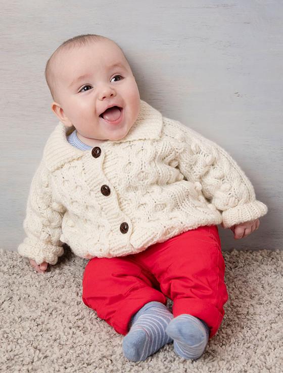 Baby/Toddler Wool Collar Cardigan