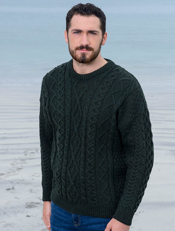 Cable Knit Sweater Mens, cable sweater men | Aran Sweater Market
