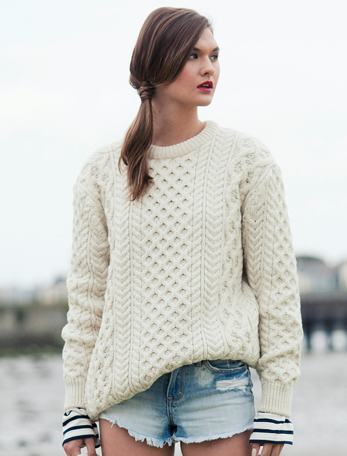 Aran Sweater Market's Own with Shorts