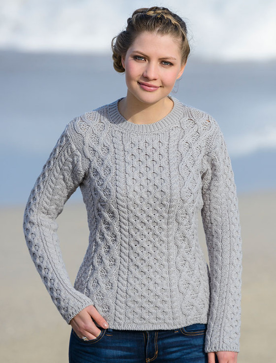 Women's Fisherman Sweater | Aran Sweater Market