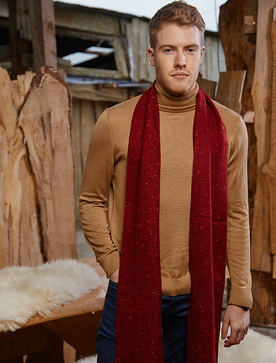 Plain Tweed Scarf