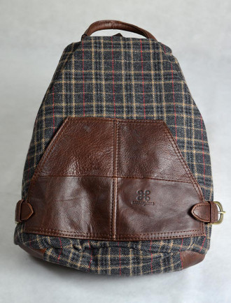 Tartan & Leather Backpack