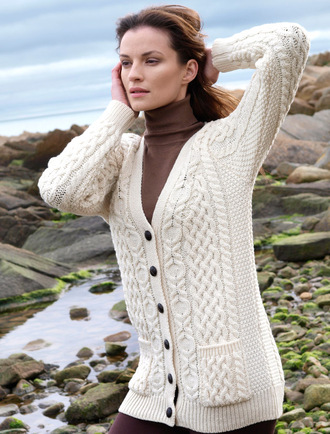 Boyfriend Merino Cardigan - Natural White