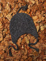Handknit Aran Hat with Ear Flaps
