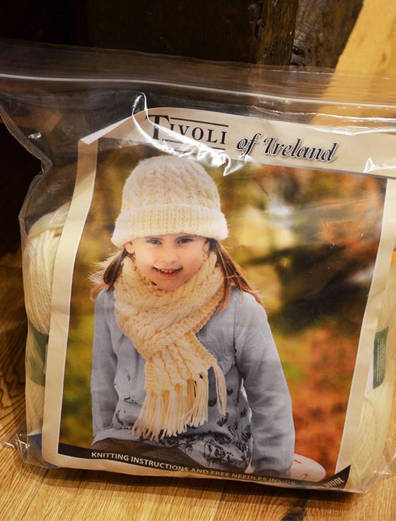 Childrens Aran Knitting Kit