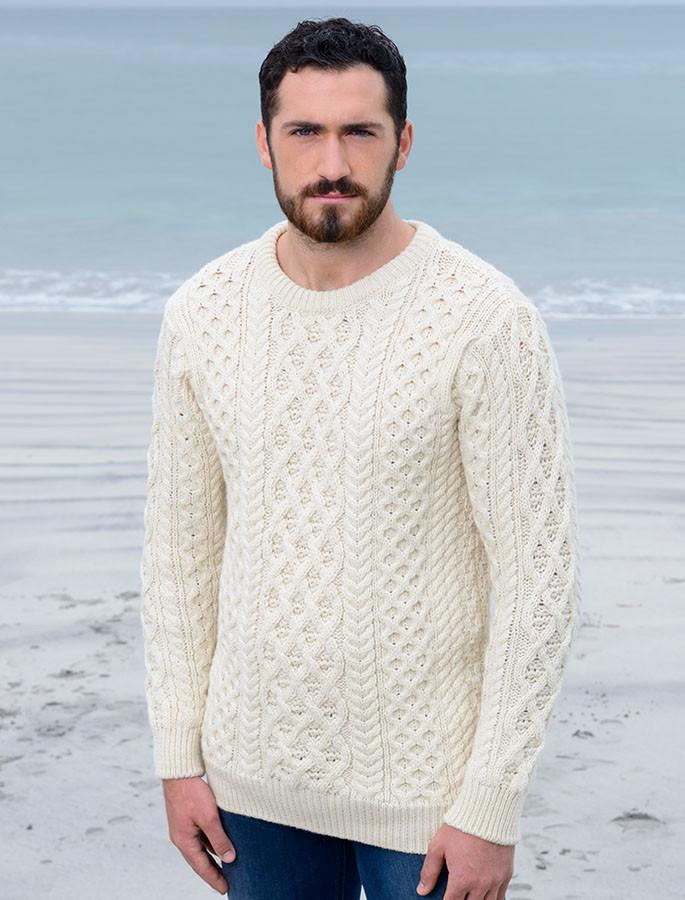 Lattice Cable Aran Sweater, Cable Knit | Aran Sweater Market