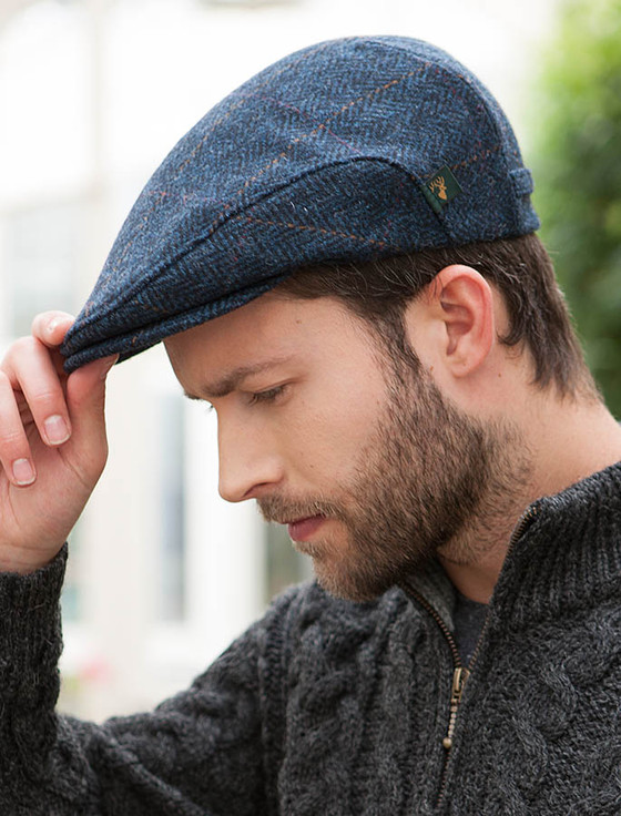 Irish Cap Denim Tweed Aran Sweater Market