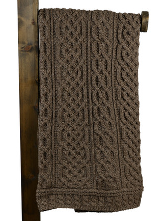 Aran Celtic Stitch Throw