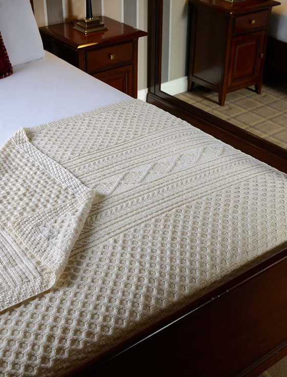 O'Flaherty Clan Aran Throw