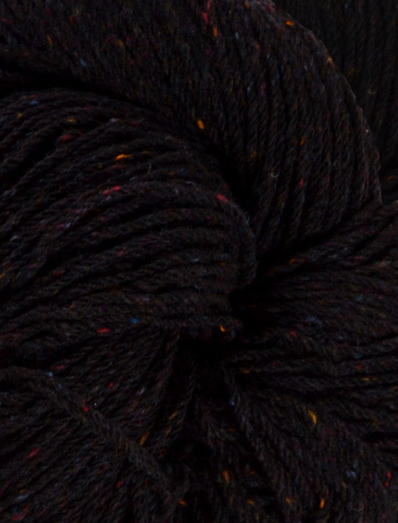 Aran Wool Knitting Hanks - Black Tweed