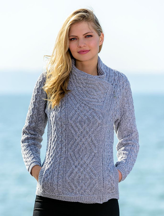 Ladies sweaters, cable knit, cardigan, Irish knitwear | Aran ...