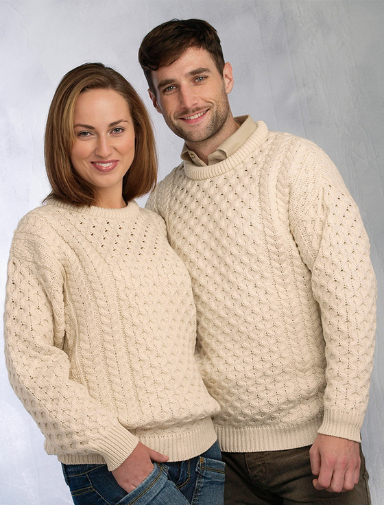 Honeycomb Aran Sweater