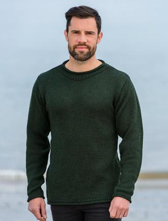 Merino Roll Neck Sweater - Army