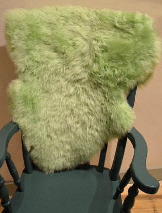 Deep Pile Sheepskin Rug - Green