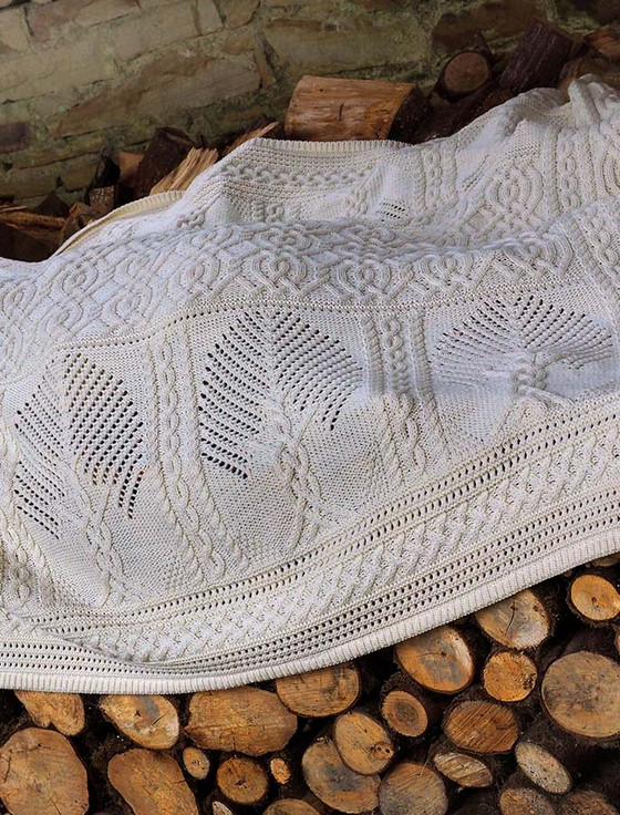 Fairy Tree Celtic Throw - Natural