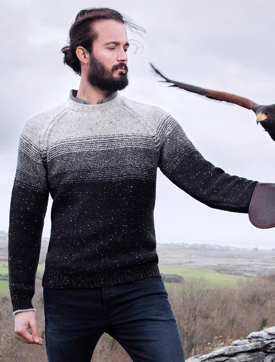 Donegal Fleck Raglan Crew - Guinness