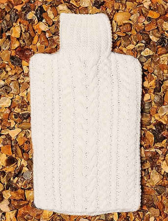 Aran Hot Water Bottle Cover