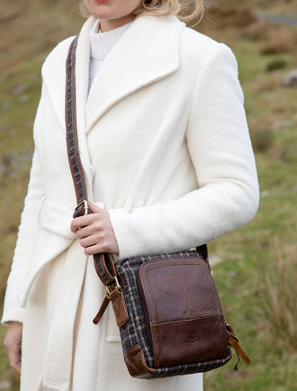 Tartan & Leather Single Pocket Bag