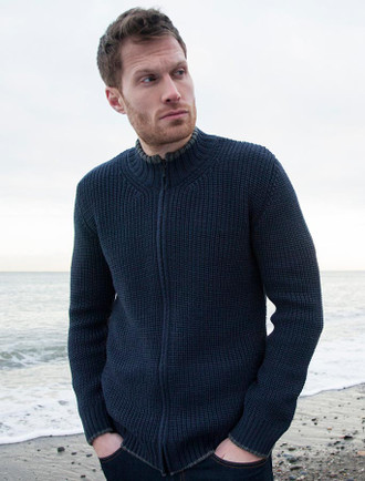 Men's Merino Ribbed Cardigan