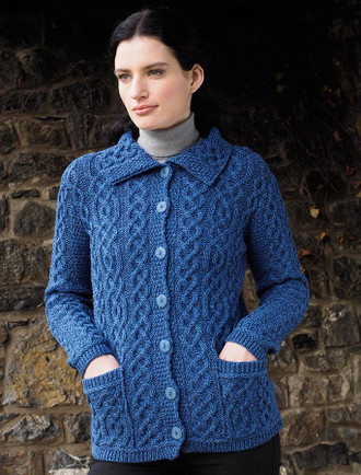 Ladies Merino Button Cardigan