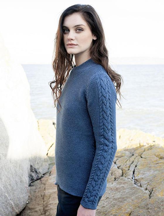 Luxury Fine Wool Aran Sweater